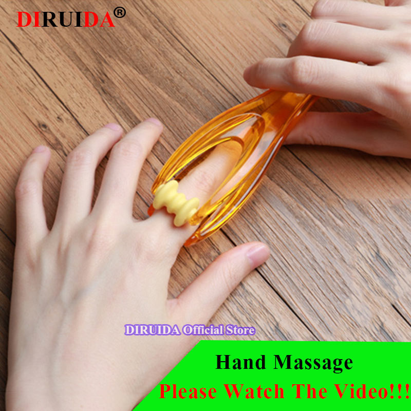 2 Rollers Finger Joints Massager Hand Blood Circulation Body Relaxation Tens Stress Relief Health Care Massage Tools