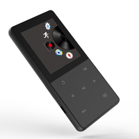 A6 HIFI Music Player Touch Screen MP3 Player 8GB Memory with FM Radio Recorder eBook Pedometer Support TF Card Up to 64GB Black