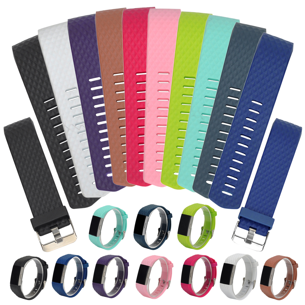 ALLOYSEED Siliconen Smartband Vervanging Smart Band Armband Voor Fitbit Charge 2 Hartslag Smart Polsband Wearable Belt Strap