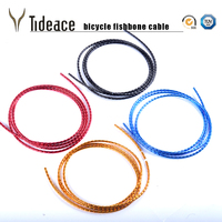 Tideace estrada/mtb bicicleta shift cabo/habitação cabo de freio da bicicleta desviador tubulação espinha de peixe alumínio habitação cabos da bicicleta conjunto