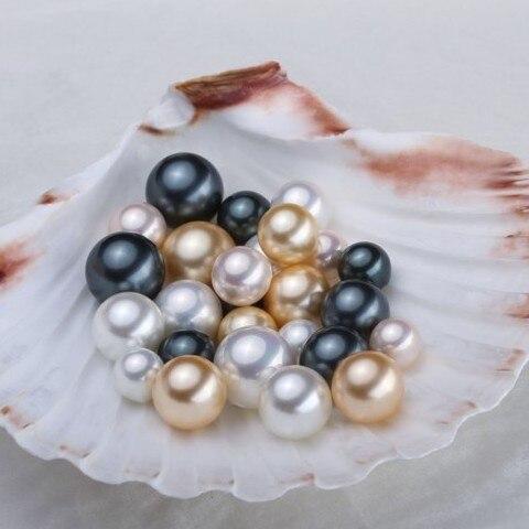 Жемчужные полупросверленные жемчужины 3 смешанных цвета хорошее