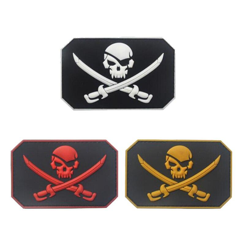 Crânio do pirata pvc braçadeira militar tático polícia especial moral emblema jaqueta mochila jeans esportes ao ar livre decoração remendo 1