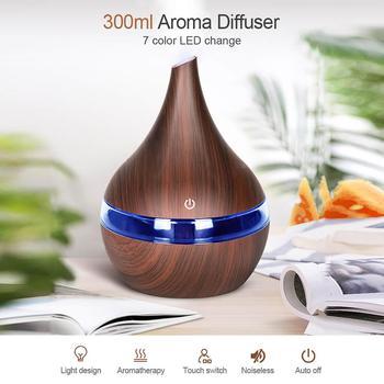 Humidificador De aire ultrasónico De madera con USB, Humidificador De Ambiente eléctrico,...