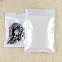 1000PCS 14*22cm White/Clear Self Seal Zipper Reclosable Plastic Retail Packaging Storage Bag,Zip Lock Bag Retail Package W/ Hang