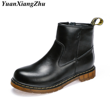 Genuine Leather Boots Women Botas Mujer Dr Martin Boots Winter Plus Size Shoes  Woman Doc Martins 2183e5ff4f47