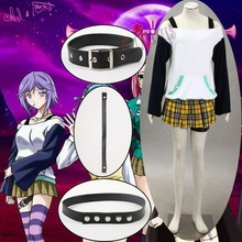 Athemis New Summer Tartan Skirt Rosario and Vampire White Snow Princess Cosplay Costumes Strapless Dress Sexy