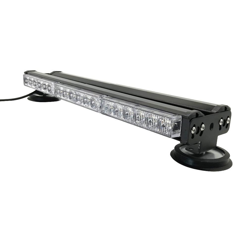 LED Strobe Light Bar Yellow White Flashing Emergency Warning Rescue Universal MO