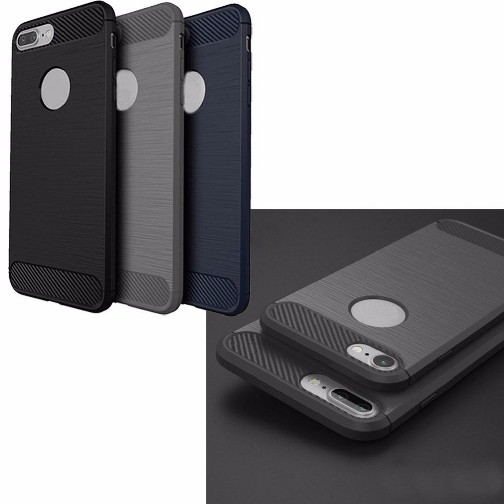 2016 New Thin TPU+PC Mobile Phone Case For iPhone 7 Plus Protective Shell Cover Gray