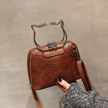 One shoulder oblique handbag shell female alligator crocodile pattern vintage fashion zipper emboss Moderate hardness