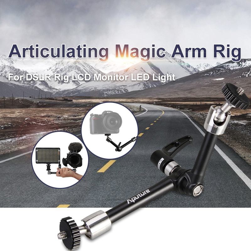 Aputure A10 10 inch Articulating Magic Arm Rig for DSLR Rig LCD Monitor LED Light Camera Accessories alluminum alloy magic folding table bronze color magic tricks illusions stage mentalism necessity for magician accessories