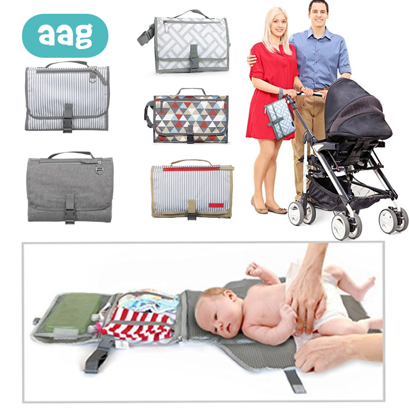 AAG Diaper Changing Pad Baby Diaper Changing Station Waterproof Baby Diaper Bag Changer Urine Mat Travel Changing Table Cover