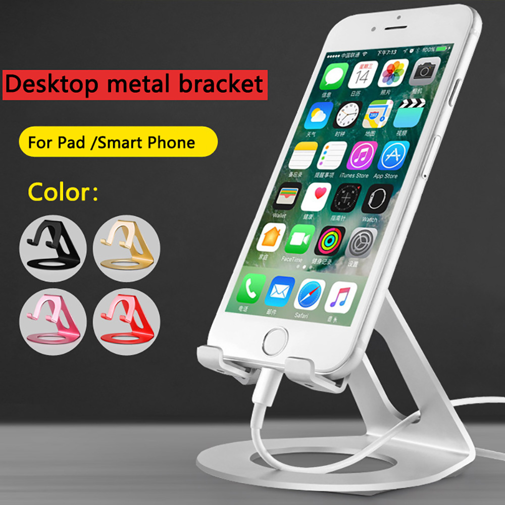 Compra ora! Aerdu Aluminum Metal Mobile Phone tablet Holder Universal Non-slip silicone Stand Desk Holder for