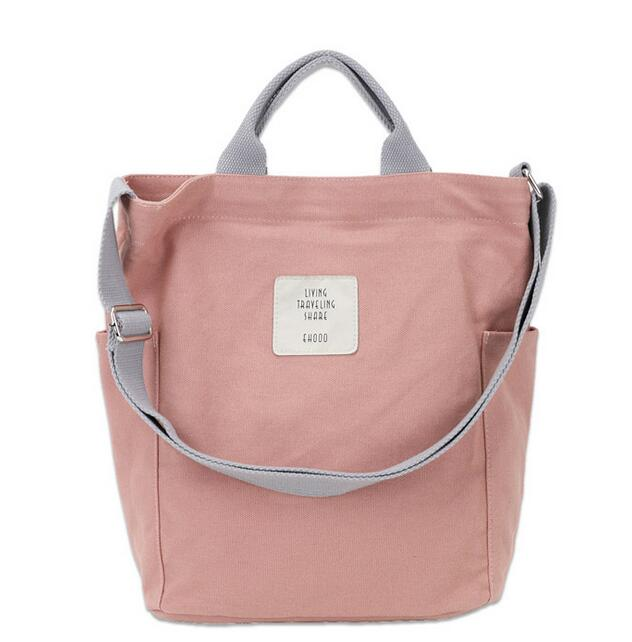 Women Bags Tote Messenger-Bag Canvas Letter Simple Handbag Printing Female Designer Luxury