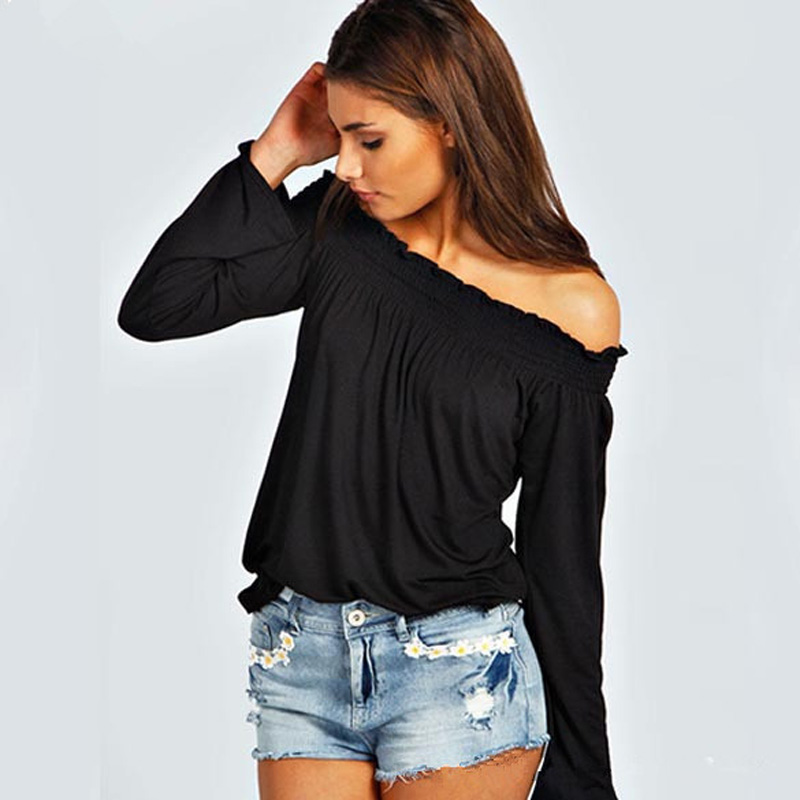 aeb5609040f Uwback Women Off the shoulder Shirt Casual Summer Tops for Women ...