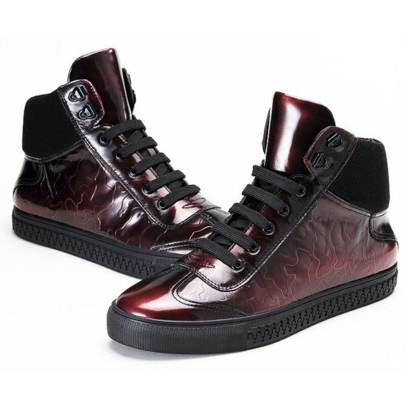 Winter Echt Designer Punk Männer Casual Candy High Gray Fashion Flache Trainer Rot Schuhe 2019 red Mens Farbe Herbst Sneakers Leder Top Grau nH0t0rwBq