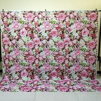HUAYI 8x8ft seamless flower wall backdrop photography wedding decorations floral vinyl backdrops photo props background D 9764