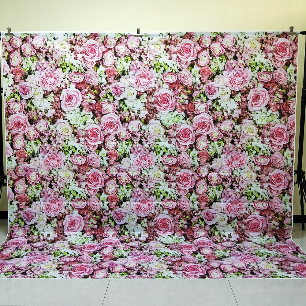 HUAYI 8x8ft seamless flower wall backdrop photography wedding decorations floral vinyl backdrops photo props background D-9764 shengyongbao 300cm 200cm vinyl custom photography backdrops brick wall theme photo studio props photography background brw 12