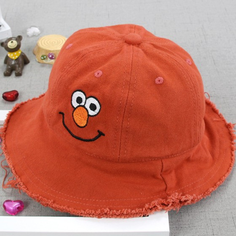 HATGUD TYLZT Brand Sales Cotton Cute Smiling Baby Bucket Caps Summer Boy Girl Fisherman Hat Fit for 3-8 Years Olds High Quality