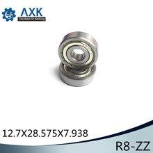 R8ZZ bearıng 12.7x28.575x7.938mm ABEC-1 ( 10 PCS ) Inch Deep Groove  rodamientos miniatura