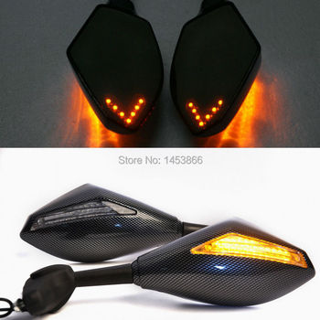 Carbon Fiber Motorcycle LED Turn Signal Rear View Side Mirror For Honda CBR600 F1/F2/F3/F4/F4i CBR600RR CBR900/929 CBR900RR - discount item  45% OFF Motorcycle Parts