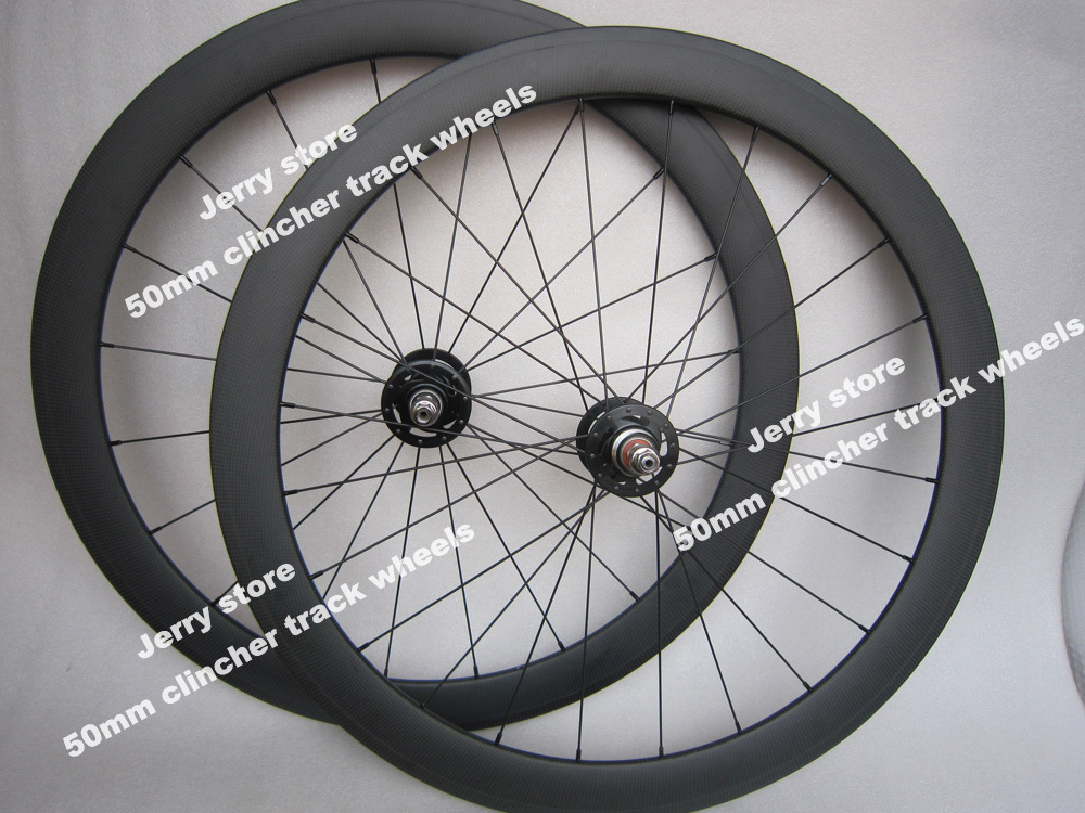 50mm deep clincher fixed gear single font b speed b font 700c carbon font b bicycle
