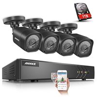 ANNKE 4CH HD TVI 1080N Video Security System DVR And 4 Weatherproof Indoor Outdoor Cameras With