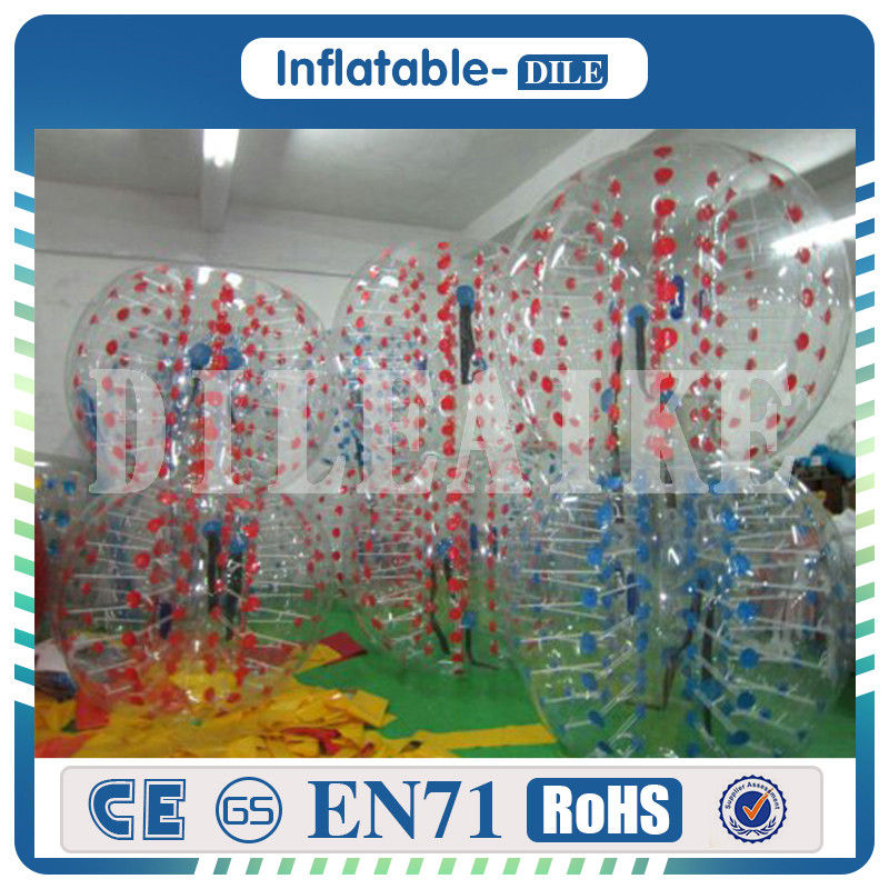 Inflatable Bumper Ball 100%TPU 1.5m/5ft Diameter Bubble Soccer Ball Inflatable Bumper Bubble Balls For Adults or Children