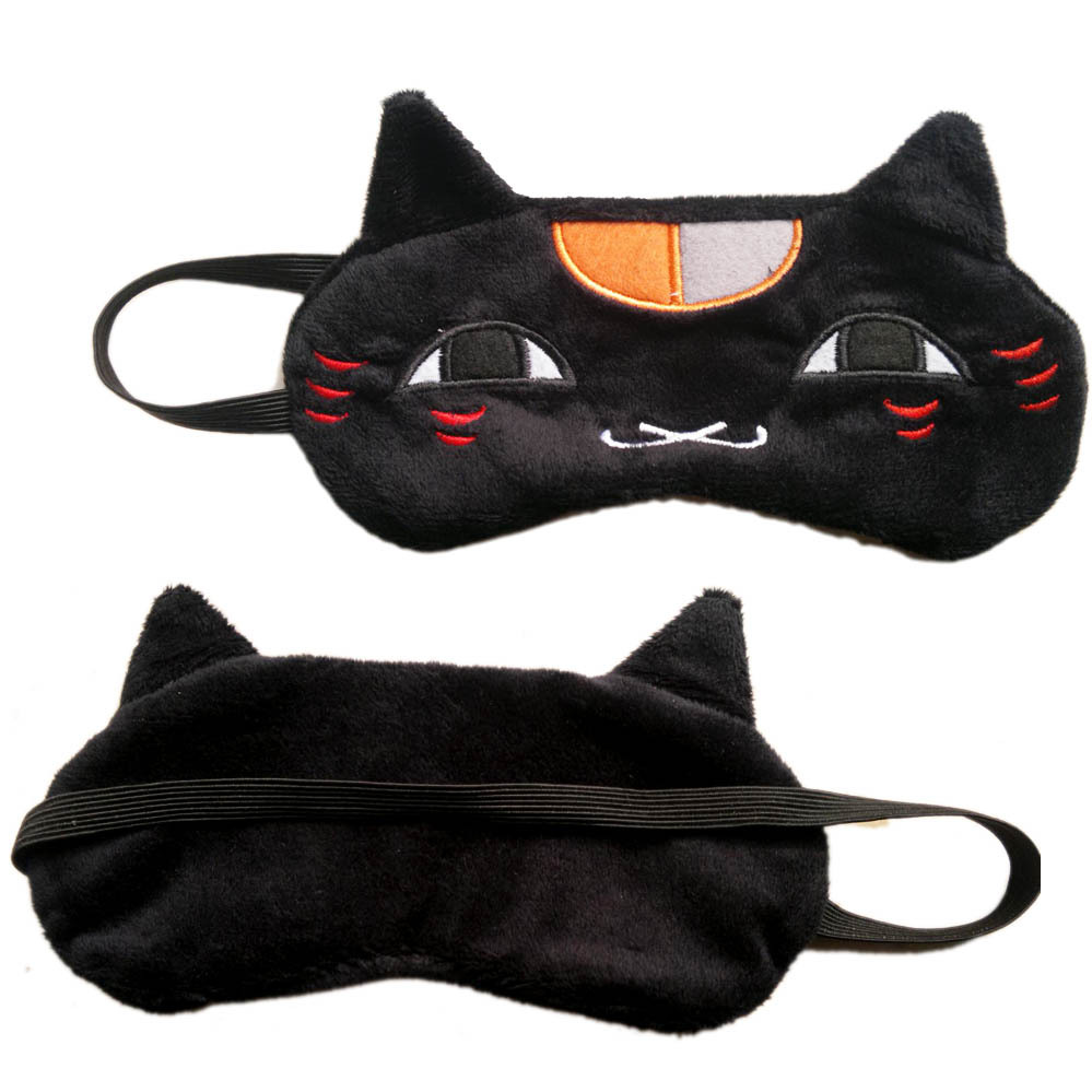 Portable Soft Travel Sleep Rest Aid Eye Mask Cute little cat Natsume Yuujinchou modeling Cover Eye Patch Sleeping Mask costume