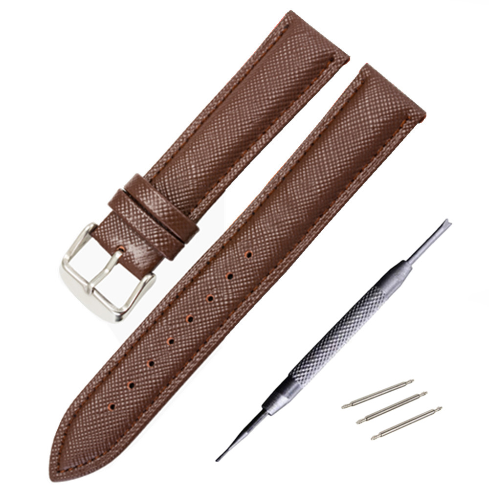 Genuine Leather Watchband Men's Women Watch Band Black Brown Replacement 12 14 16 18 20 mm Watches Accessories Relojes Hombre