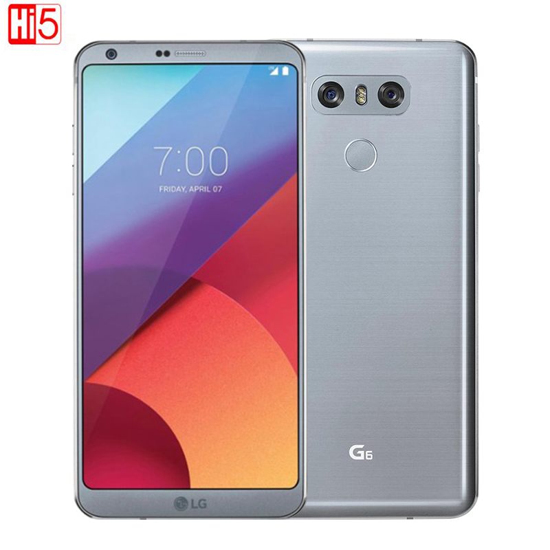 D'origine LG G6 Mobile Téléphone 4g RAM 32g ROM Quad-core 13MP Caméra Unique SIM H871/ VS988 LTE 4g 5.7 Téléphone Portable