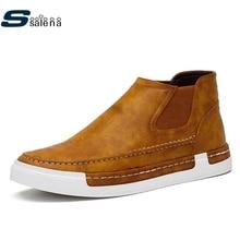Армейские Ботинки мужские классические слипоны ковбойские ботинки модная обувь высокого качества AA20095