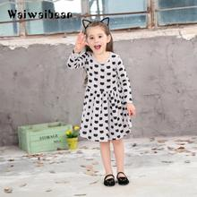 Autumn New Kid Girls Dresses Baby Clothing Dresses Cartoon Long-Sleeved Children Princess Dresses Kids Clothes With High Quality 5293 bohemia beading tutu princess kid dresses for baby girls winter children clothes wholesale baby kids boutique clothing lots