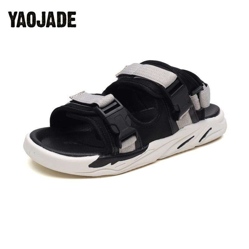 2018new Trend Summer Men Sandals Black Simple Men Shoes Comfortable Beach Shoes Men Sandals Comfortable And Good Quality