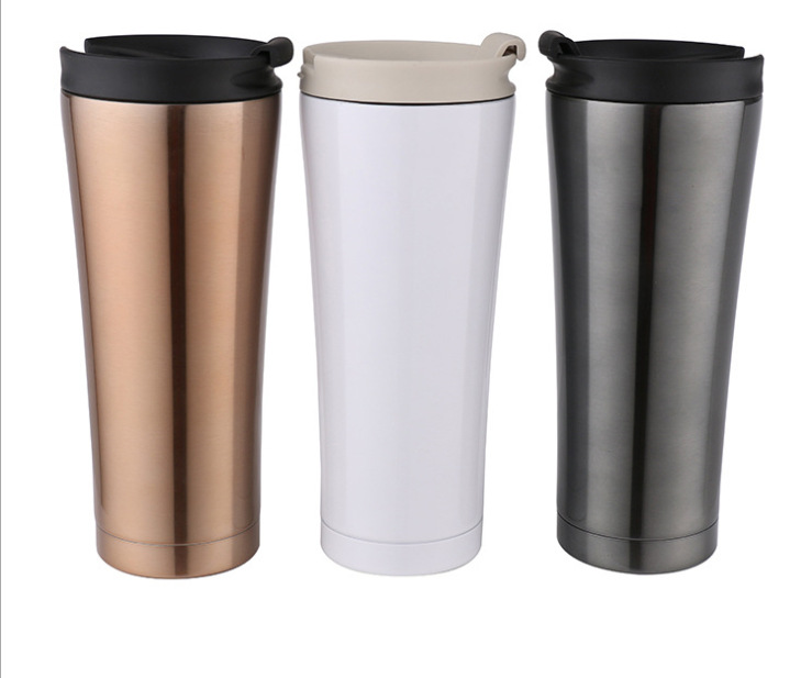 High quality stainless steel thermos coffee mug with lid cups and mugs vacuum flask thermos coffee