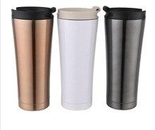 Hohe qualität edelstahl thermoskanne kaffeetasse mit deckel tassen und becher isolierflasche thermoskanne kaffeetasse Reise wasserflasche