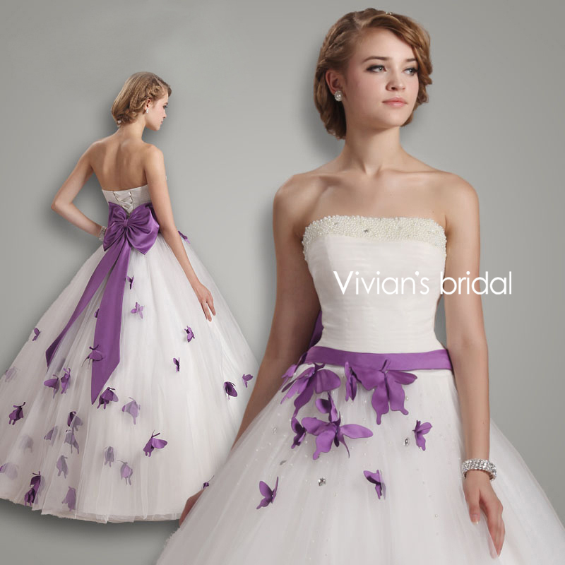 Aliexpress.com : Buy Vivian's Bridal Ball Gown Bows Wedding ...