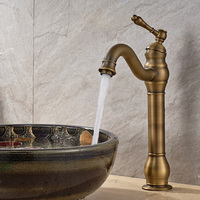Brass Sink Faucets Luxury Single Handle Hot And Cold Water Mixer High Tap For Bathroom Kitchen