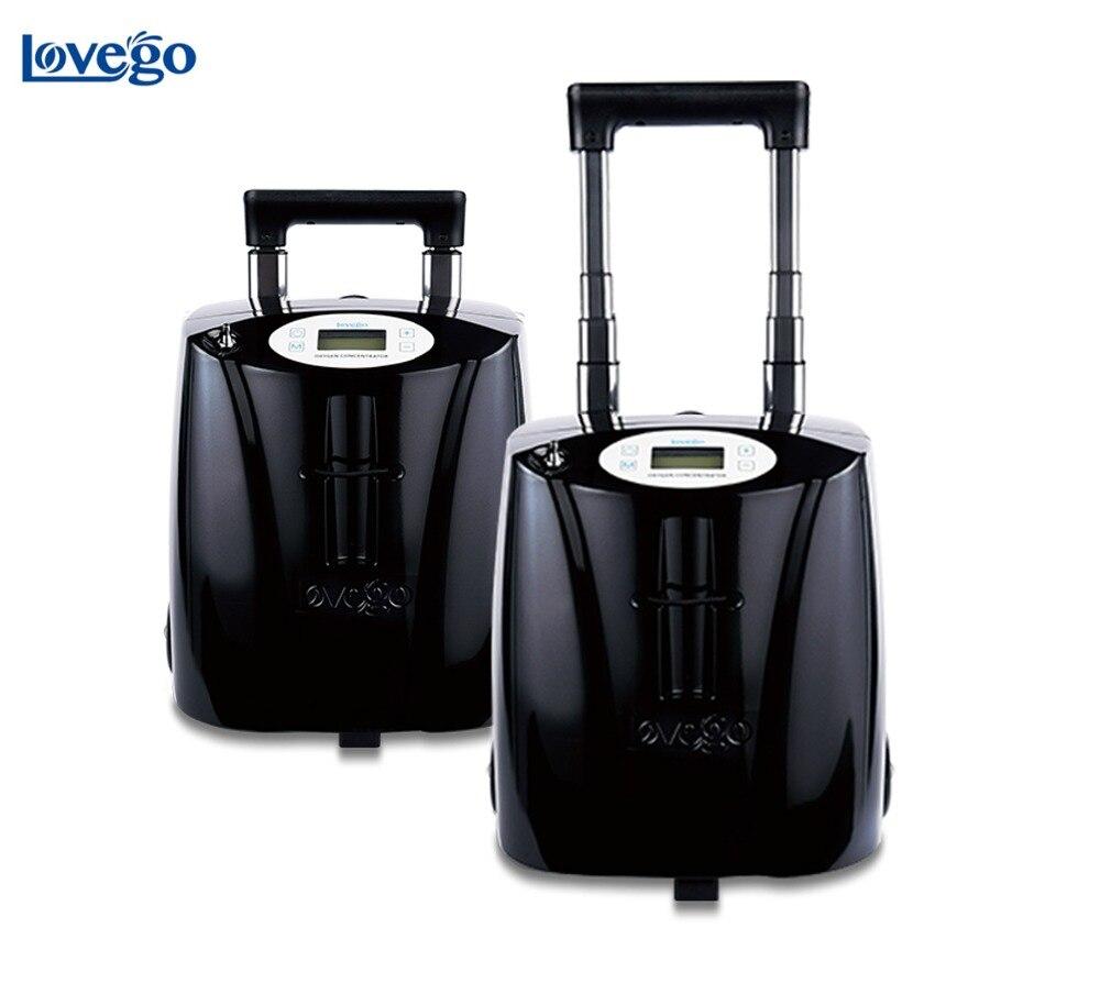 7LPM Lovego медицинский портативный концентратор кислорода LG103 для кислородной терапии/ХОБЛ/болезни легких/7 часов батареи/90 96% чистоты