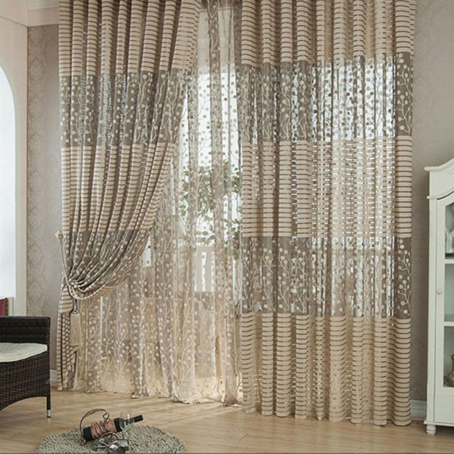 100 200cm lace curtains window scraf valances curtain drapes tulle window readymade blind