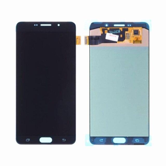 삼성 갤럭시 A9 2016 A910 LCD 디스플레이 터치 스크린 디지타이저 어셈블리에 대 한 AAA LCD 삼성 A9 프로 A910 A9100 A910F LCD