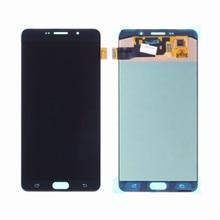 AAA LCD لسامسونج غالاكسي A9 2016 A910 LCD عرض تعمل باللمس محول الأرقام الجمعية لسامسونج A9 برو A910 A9100 A910F LCD