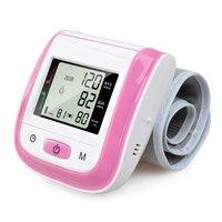 ¡ Nuevo! tonómetro de Sphgmomanometer Automático Muñeca Monitor de Presión Arterial Digital lcd Digital de la frecuencia Del Pulso Metro de Color Rosa