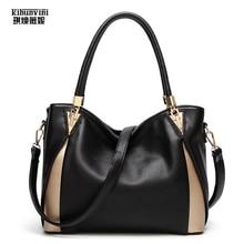 KIHUNVINI Big Handbag Women Leather Handbags Female Purse New Fashion Shoulder Bags Ladies Large Tote Bag Bolsas Girls Hand Bag