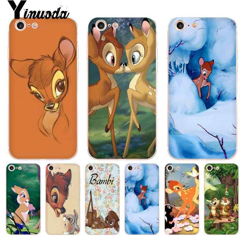 Yinuoda สำหรับ iPhone 7 6 X กรณี Sika deer Bambi Coque Shell สำหรับ iPhone 8 7 6 6S Plus X 5 5S SE XR XS XSMAX