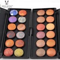 Miss Rose Makeup Eyeshadow Palette Matte Shimmer Eye Shadow Powder Makeup Set Professional Cosmetics 12 Colors