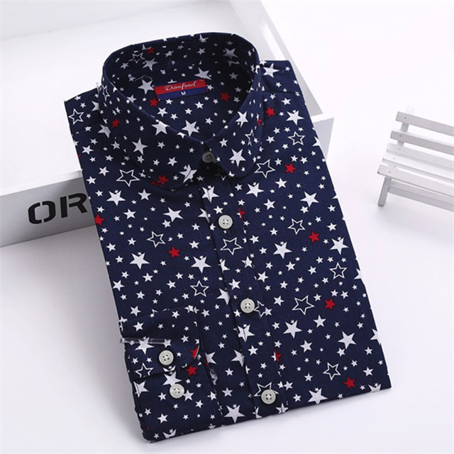 Dioufond Cotton Long Sleeve Women Blouses School Work Office Shirts Casual Tops Ladies Cherry Print Shirt Women Fashion Clothing 2