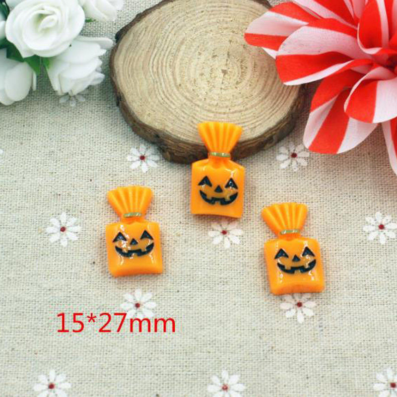 Halloween Flatback Planar Resin Acrylic Cabochon for Hair Bow 10pcs DIY Holiday Decoration Crafts Phone Case Accessories in Charms from Jewelry Accessories