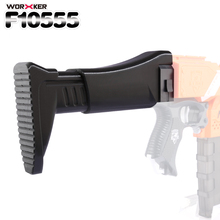 Worker f10555 3D Printing NO.116 Shoulder Stock Tail Stock for Nerf N-strike Elite Series(Type-A) - Black