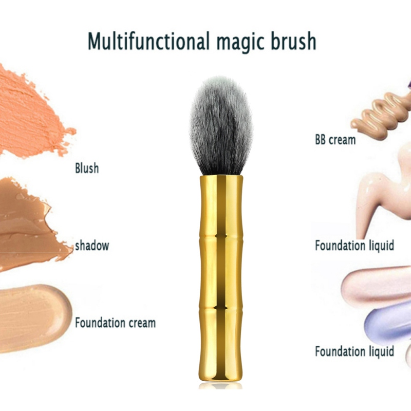 Latest Collection Of 2019 Wool Fiber Bristle Wooden Handle New Gold Bamboo Powder Brush Blush Flame Makeup Brushes Professional Cosmetic A Plastic Case Is Compartmentalized For Safe Storage Makeup Makeup Tools & Accessories