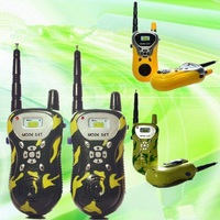 Hot Sale 2016 Pair Communication Toy Walkie Talkie For Children Kids Gift Durable Handheld Yellow Open